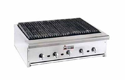 American Range ARRB-30 NG 30-in Counter Charbroiler w/ Heavy Duty Grates, Manual, 75000-BTU, NG