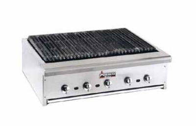 American Range ARRB60 NG 60-in Counter Charbroiler w/ Removable Radiants, Stainless Front & Trim, NG