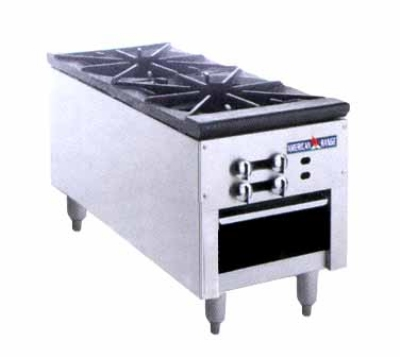 American Range ARSP182 LP Stock Pot Range w/ 2- Burners & Manual Controls, LP