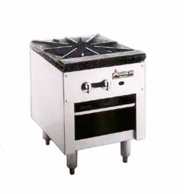 American Range ARSP18 LP Stock Pot Range, 3 Ring Burner, Cast Iron Top, Manual Control, NSF, LP