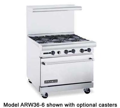 "American Range ARW36-4WB 36"" 4-Burner Gas Range, LP"