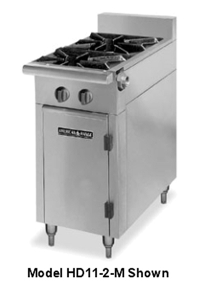 "American Range HD11-2SU-M 11"" 2-Burner Gas Range, Step-up, NG"