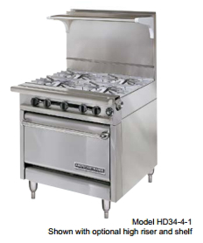 "American Range HD34-17TG-2-1C 34"" 2-Burner Gas Range with Griddle, NG"