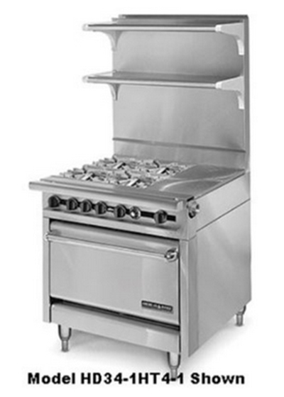 "American Range HD34-17TG-2-M 34"" 2-Burner Gas Range with Griddle, LP"