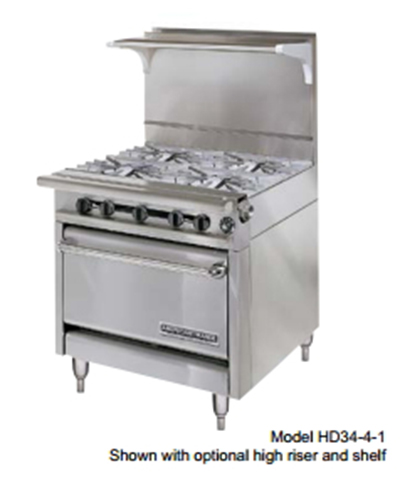 "American Range HD34-17VG-2-1C 34"" 2-Burner Gas Range with Griddle, LP"