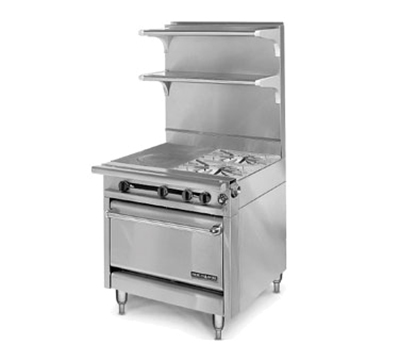 "American Range HD34-1HT-2-1C 34"" 2-Burner Gas Range with Hot Top, NG"