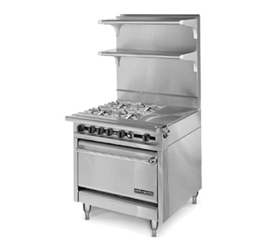 "American Range HD34-1HT-4-1 34"" 4-Burner Gas Range with Hot Top, NG"