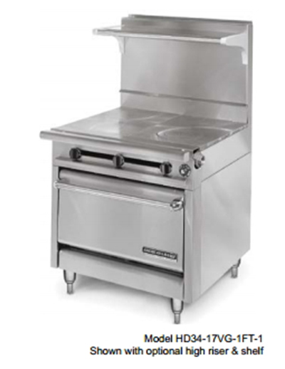 "American Range HD34-23VG-1HT-M 34"" Gas Range with Griddle & Hot T"