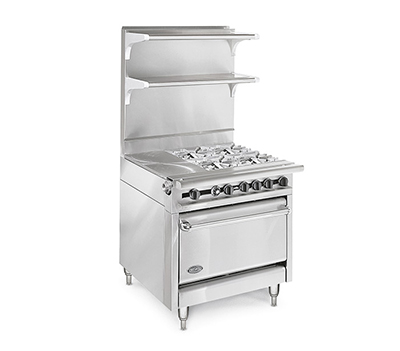 "American Range HD34-34VG-M 34"" Gas Range with Griddle, NG"