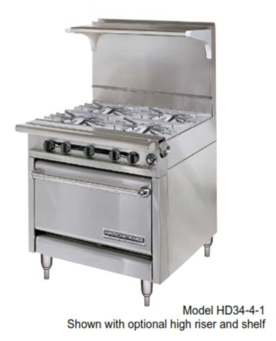 "American Range HD34-17VG-2-M 34"" 2-Burner Gas Range with Griddle, NG"