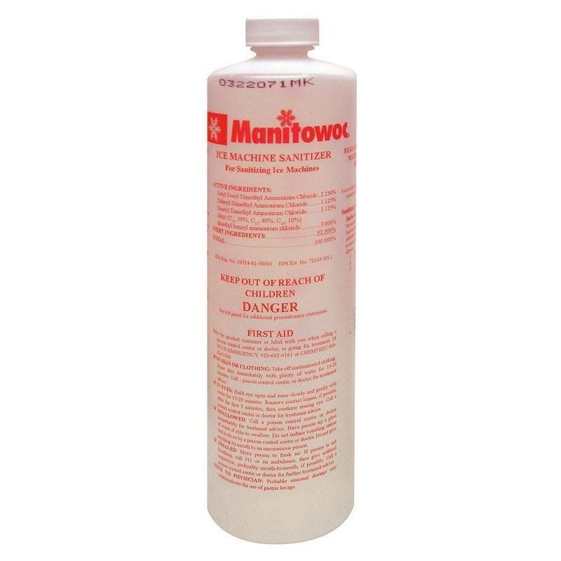 Manitowoc Ice 000005164 AuCS-SI Sanitizer, 16 oz. Bottle, Case of 12
