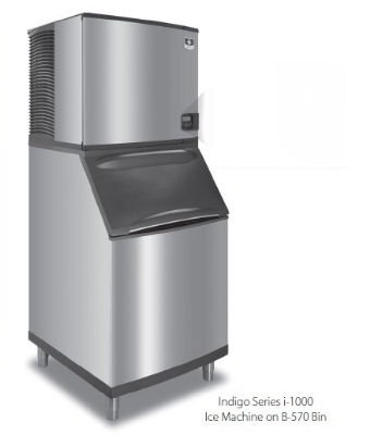 Manitowoc Ice ID1002A261B970 Ice Maker w/ 710-lb Bin, Full Cube, 1060-lb/24-Hr, Air, 208-230/1 V