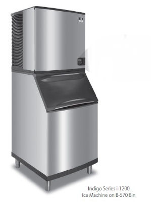 Manitowoc Ice ID1202A261B970 Ice Maker w/ 710-lb Bin, Full Cube, 1100-lb/24-Hr, Air Cool, 208/1 V