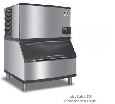 Manitowoc Ice ID0302AB400 Cube Ice Maker w/ 290-lb Bin - Air Cooled, 115v