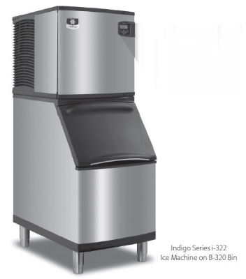 Manitowoc Ice ID0322A161B320 Ice Maker w/ 210-lb Bin, Full Cube, 350-lb/24-Hr, Air, 115 V
