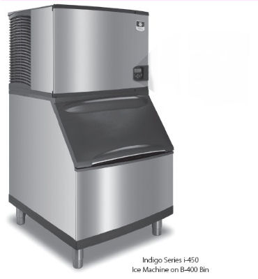 Manitowoc Ice IY0454A161B400 Half Cube Style Ice Maker w/ 450-lb/24-hr & 290-lb Bin Capacity, Air Cool