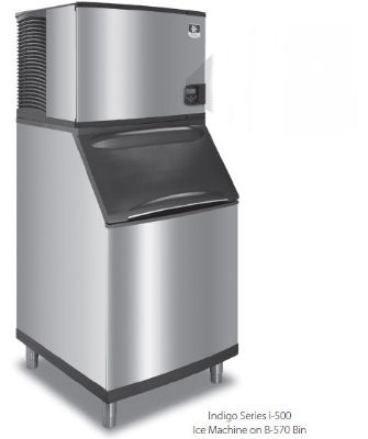Manitowoc Ice ID0502A161B570 Cube Style Ice Maker w/ 560-lb/24-hr & 430-lb Bin Capacity, Air Cool