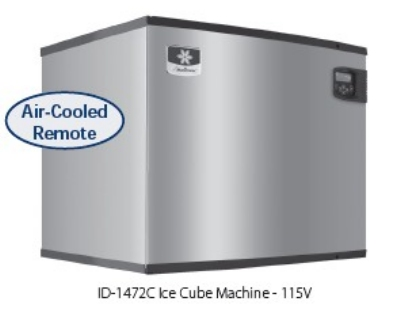 Manitowoc Ice ID-1472C Dice Cube Style  Ice Maker w/ 1330-lb/24-hr &  LuminIce, Air Cool, Remote, 115V