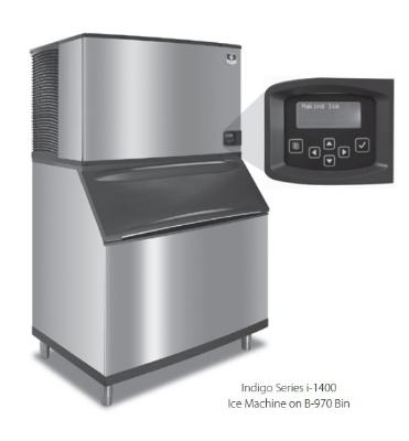 Manitowoc Ice IY-1494N Half Cube Style Ice Maker w/ 1480-lb/24-hr Capacity & LuminIce, Air Cool, Remote, 208/1v