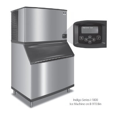 Manitowoc Ice IY-1804A Half Cube Ice Maker w/ 1860-lb/24-hr Capacity, Air Cool, LuminIce, 208-230/1v