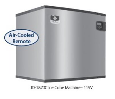 Manitowoc Ice IY-1894N Half Dice Style Ice Maker w/ 1810-lb/24-hr Capacity & LuminIce, Remote, Air Cool