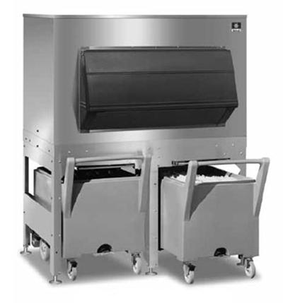 Manitowoc Ice FC-1350 Ice Bin w/ 1350-lb Storage Capacity & (2) 240-lb Carts, Stainless