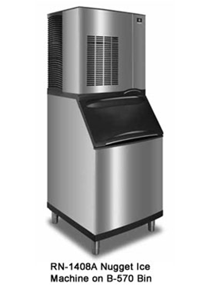Manitowoc Ice RN-1408A Nugget Style Ice Maker w/ 1289-lb/24-hr Capacity, Air Cool, 208/1v