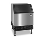 Manitowoc Ice UY-0240W Ice Maker - Undercounter, Half Cube, 225-lb/24-hr, 80-lb Bin, Water Cool