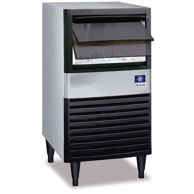 Manitowoc Ice QM-45A Cube-Style Ice Maker w/ 95-lb/24-hr Capacity & Bin, Air Cool, Export