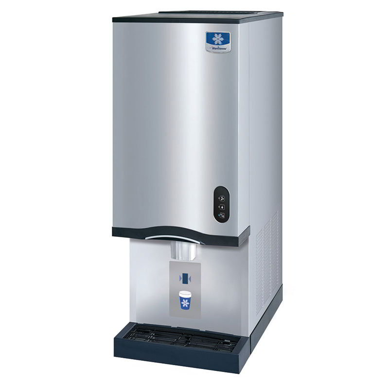 Manitowoc Ice RNS-20A Lever-Style Ice Maker w/ Water Dispenser & 20-lb Bin Capacity, Air Cool, 115v