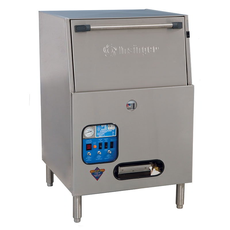 Insinger GW40 Chemical Sanitizing Glasswasher, 40-Racks/Hr, 110 V