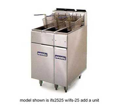 Imperial IFS-2525 LP Dual Deep Fat Fryer w/ 25-lb Capacity & Snap Action Thermostat, LP