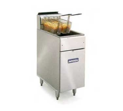 Imperial IFS-40 NG 40-lb Floor Fryer w/ Snap Action, All Stainless, NG
