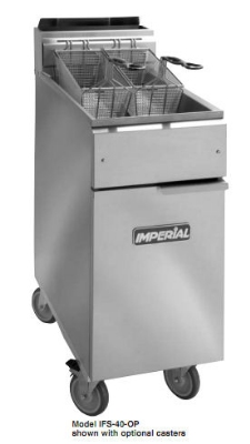 Imperial IFS-40-OP NG 40-lb Open Pot Floor Fryer w/ Snap Action, NG