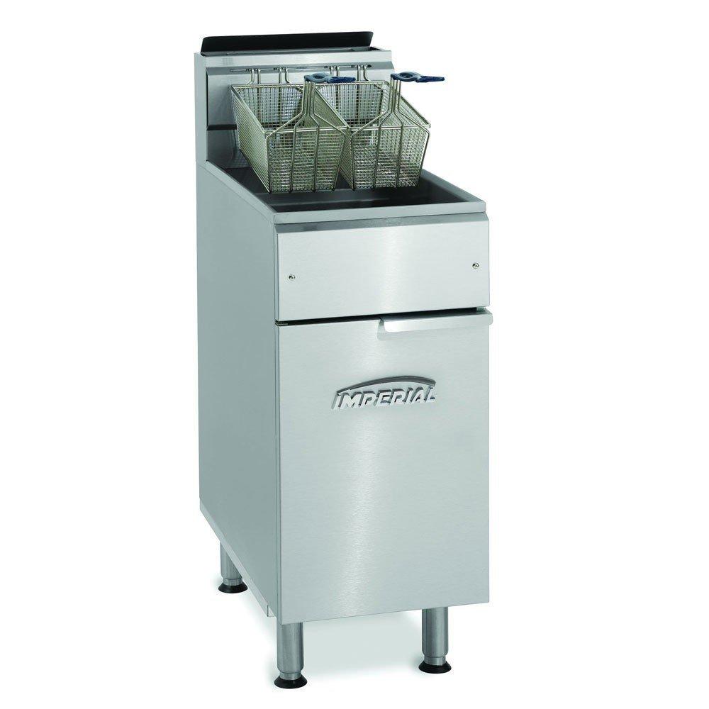 Imperial IFS-40-OP LP Gas Fryer - (2) 40-lb Vat, Floor Model, LP