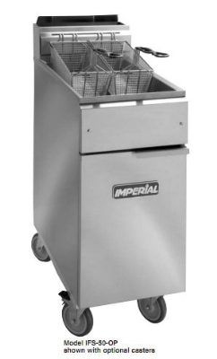 Imperial IFS-50-OP NG 50-lb Open Pot Floor Fryer w/ Snap Action, NG