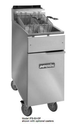 Imperial IFS-50-OP LP 50-lb Open Pot Floor Fryer w/ Snap Action, LP