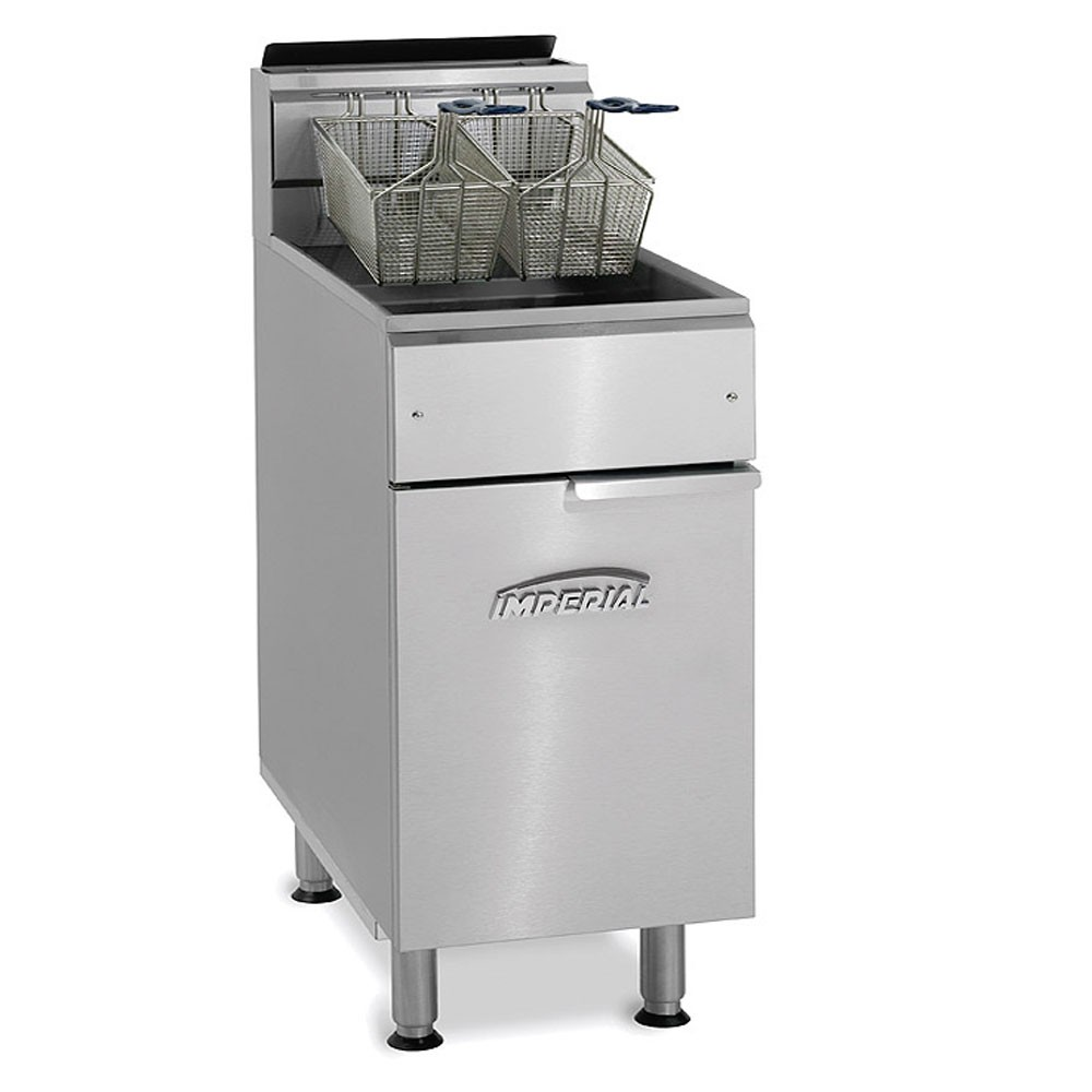 Imperial IFS-75 Gas Fryer - (2) 75-lb Vat, Floor Model, NG