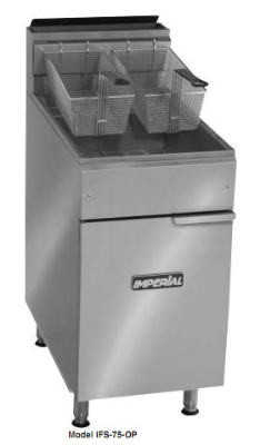 Imperial IFS-75-OP NG 75-lb Open Pot Floor Fryer w/ Snap Action, NG