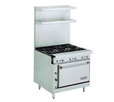 "Imperial IHR-6 36"" 6-Burner Gas Range, LP"