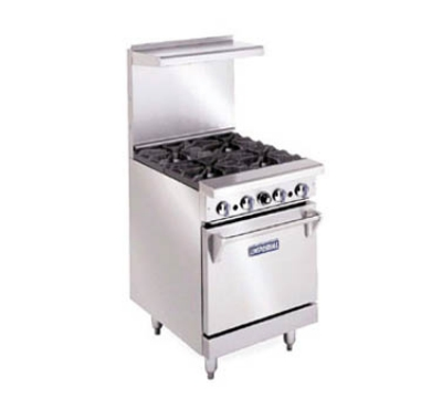Imperial IR-4 NG 24-in Restaurant Range w/ 4-Burners & Oven, NG