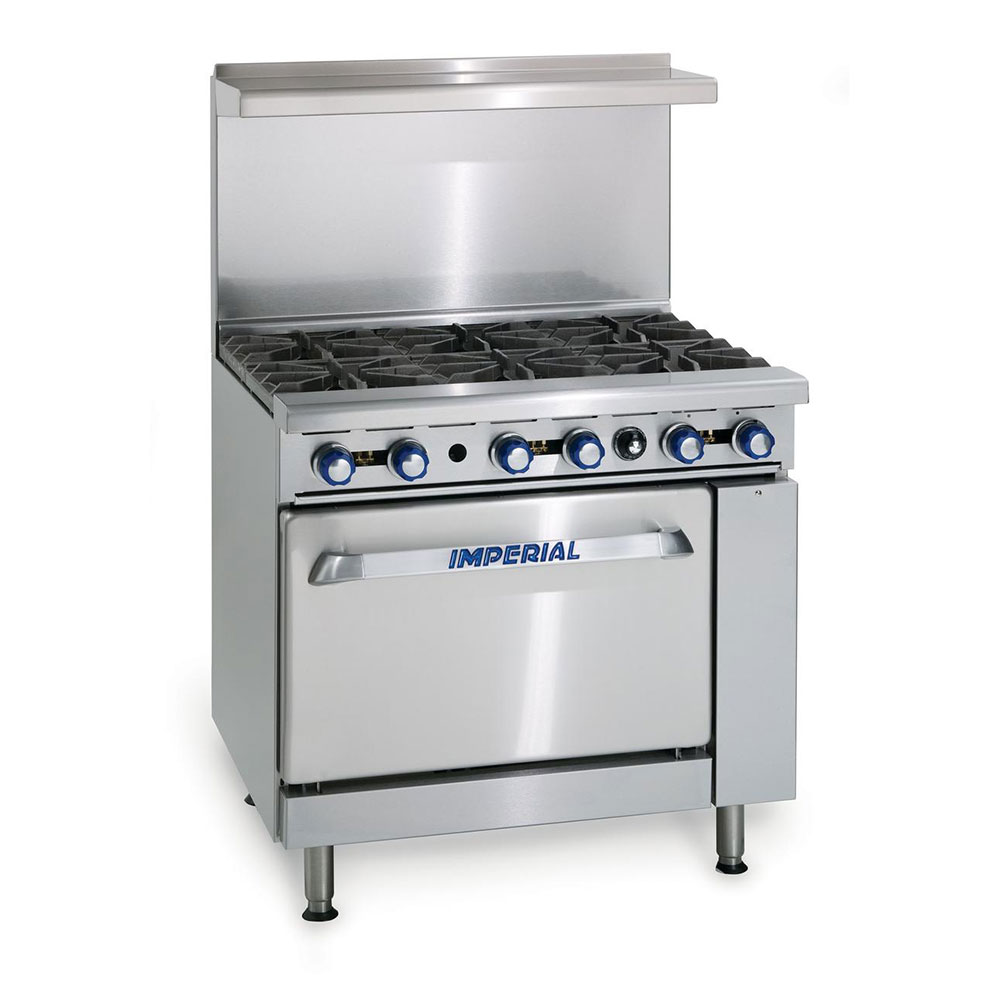 "Imperial IR-6 36"" 6-Burner Gas Range, LP"