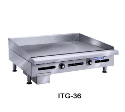 Imperial ITG-24 LP 24-in Countertop Griddle w/ Polished Steel Plate, Thermostatic, LP