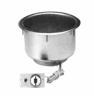 Piper Products 11QT-OD-T-R 208 Drop-In Hot Food Well Unit w/ 11-qt Round Pan Capacity, Stainless, 208/1V