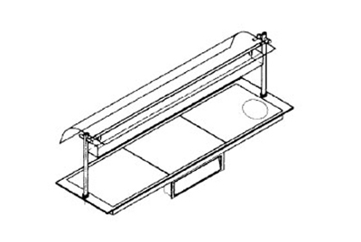 Piper Products B27060 Built-In Hot Plate w/ 2-Section, Support Angles, 47.4x27.56-in