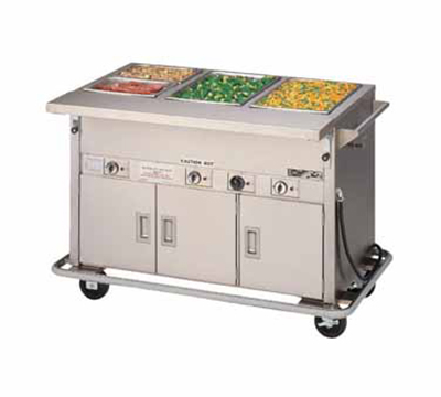Piper Products DME-4-PTS-BH 2081 64-in Mobile Hot Food Serving Counter, 4-Wells, Heated Understorage, 208/1V