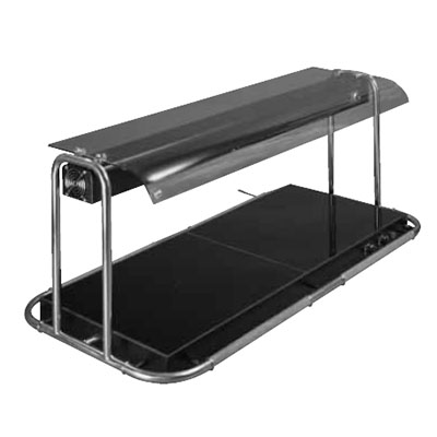 Piper Products P26050-OHD1200 53.25-in Portable Hot Plate w/ Sneeze Guard & Heat Lamp, 2-