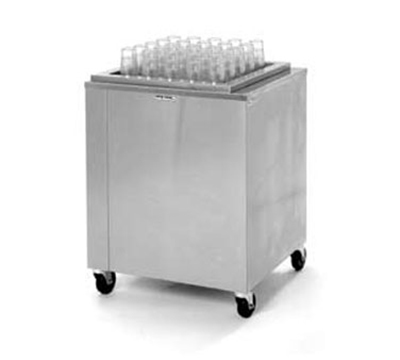 Piper Products AC-ST-2020-14OZ Mobile Dispenser w/ 425-Plastic Tumbler Capacity & Enclosed Base, Stainless