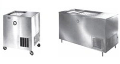 Piper Products R22-S(STNRY) 15-Crate Milk Cooler - Top Sli