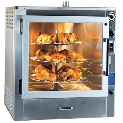 Piper Products RO-1 2401 Electric 3-Tray Commercial Rotisserie, 240/1ph